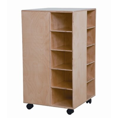 Wood Designs Space Saver Cubby Spinner with No Trays