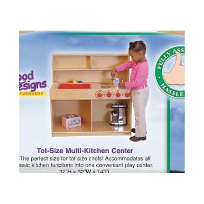 Wood Designs Healthy Kids Tot 3-N-1 Kitchen