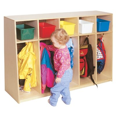 "Wood Designs Tip-Me-Not 36""H Locker with Plywood Back"