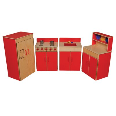 Wood Designs 4 Piece Classic Appliances Set with Hutch