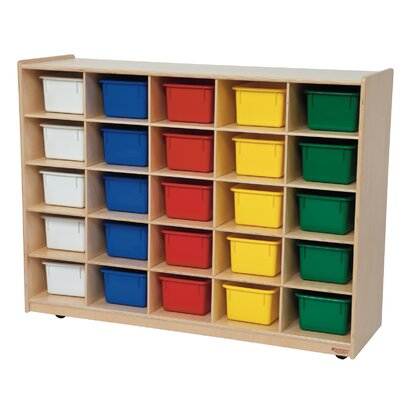 Wood Designs Tray Storage Unit 25 Compartment Cubby