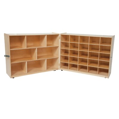 Wood Designs Tray and Shelf Single Folding Storage Unit