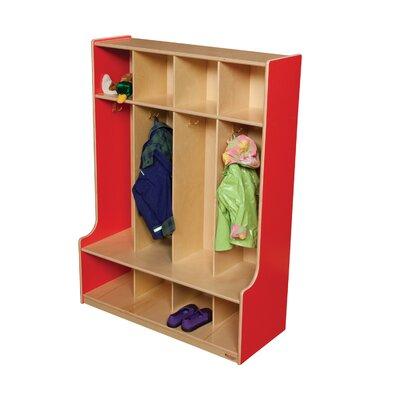 Wood Designs 4-Section Seat Locker