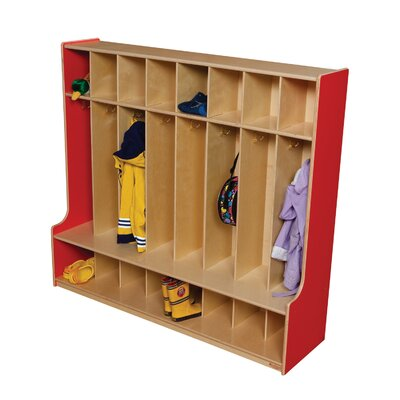 Wood Designs 8-Section Seat Locker