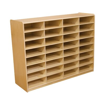 "Wood Designs Storage Unit with 3"" 32 Letter Trays"