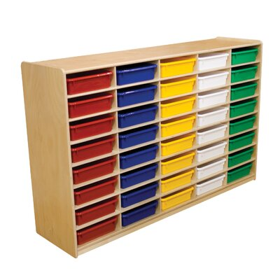 "Wood Designs Storage Unit with 3"" 40 Letter Trays"