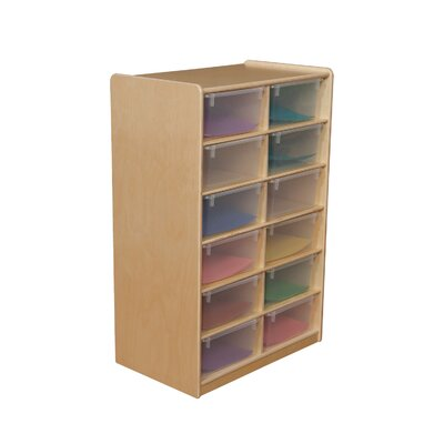 "Wood Designs Storage Unit with 5"" 12 Letter Trays"