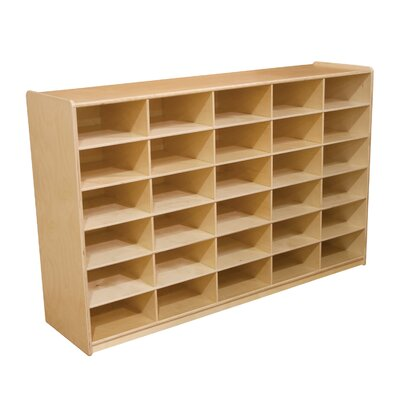 Wood Designs Storage Unit with 5&quot; 30 Letter Trays