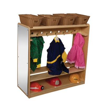 Wood Designs Natural Environment Mobile Double Sided Locker