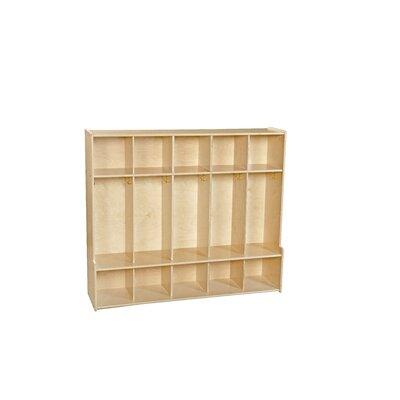 Wood Designs Contender 5 Section Seat Locker