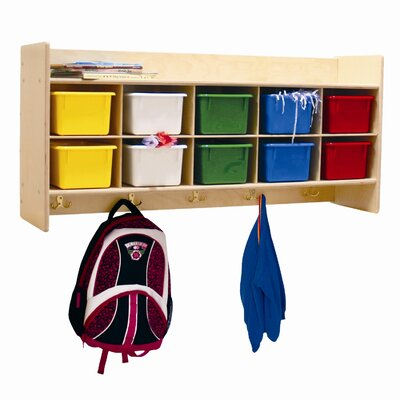 Wood Designs Contender Wall Locker and Cubby Storage