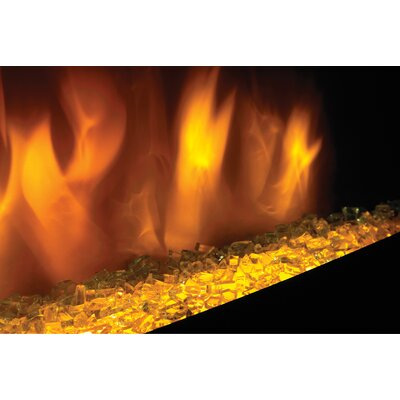 Electric Fireplace Insert with Glass