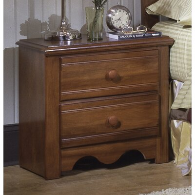 Crossroads 2 Drawer Nightstand