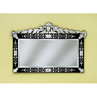Venetian Gems Loreta Venetian Wall Mirror in Black