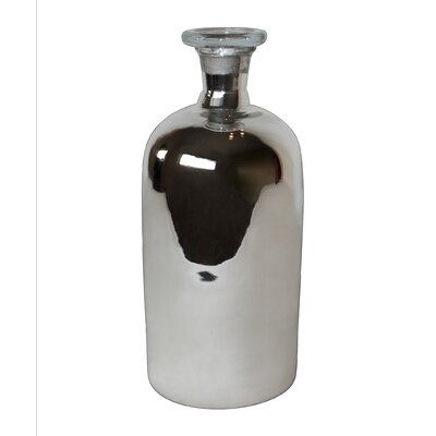 White x White Mercury Bottle Vase
