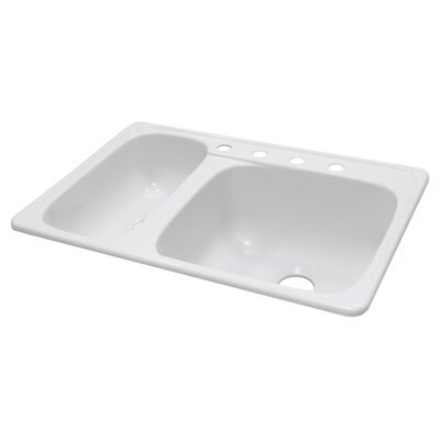 "Lyons Industries Deluxe 33"" x 22"" x 10"" Kitchen Sink"