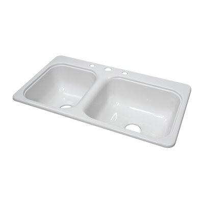 33x19 Kitchen Sink Elkay Dayton 33 Quot X 19 Quot Top Mount Kitchen Sink