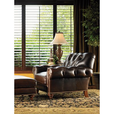 Lexington Regents Row Covington Leather Ottoman