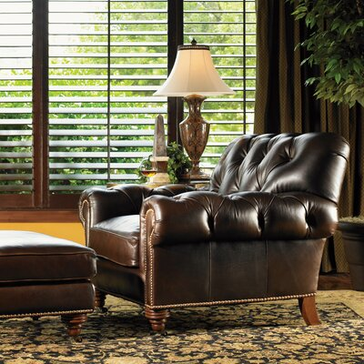 Regents Row Leather Chair and Ottoman