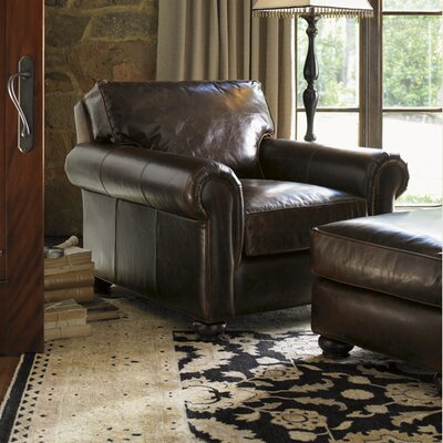 Images of Courtrai Flanders Leather Chair and Ottoman