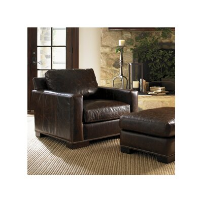 Images of Courtrai Reuben Leather Chair and Ottoman