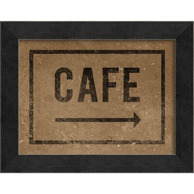 Blueprint Artwork Cafe Framed Art