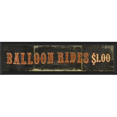 Blueprint Artwork Balloon Rides $1 Wall Art