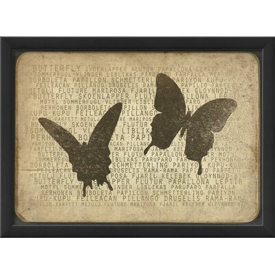 Blueprint Artwork Butterfly Silhouette Wall Art