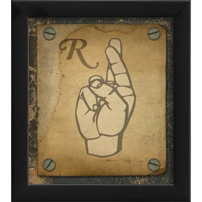 Blueprint Artwork Sign R Wall Art