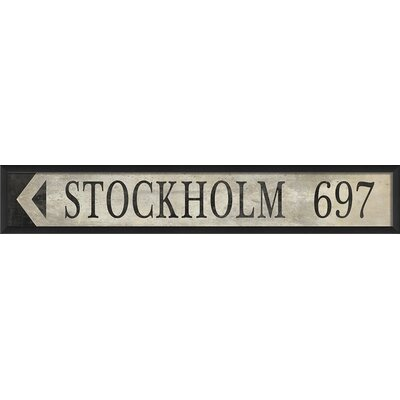 Blueprint Artwork Stockholm Swedish Sign Wall Art