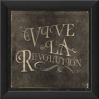 Blueprint Artwork Vive La Revolution Wall Art