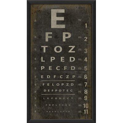Blueprint Artwork Eye Chart Framed Textual Art Amp Reviews