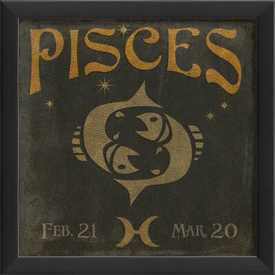 Blueprint Artwork Zodiac Pisces Wall Art | Wayfair