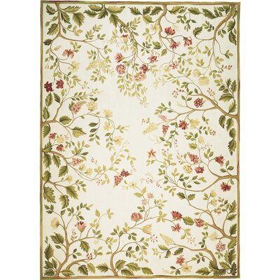 Milano Savonile Summer Yellow / Green Flowers Rug
