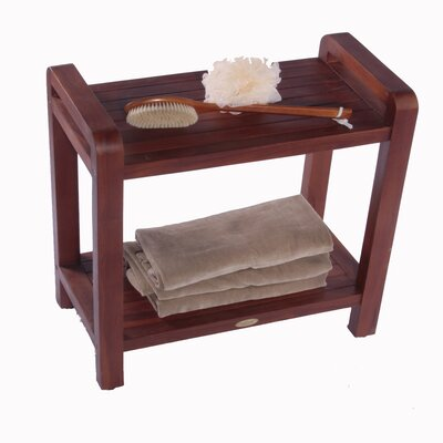 Decoteak Outdoor Teak Bench Shelf or End Table
