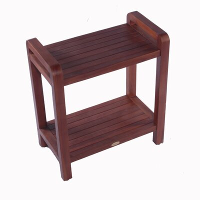 Decoteak Outdoor Teak Ergonomic Bench Storage Shelf or Table