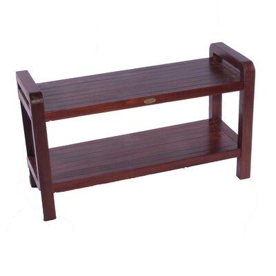 Aqua Teak Grate Teak Shower Bench With Shelf Amp Reviews