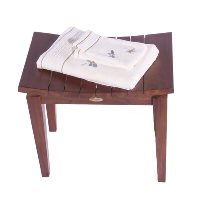 Decoteak Sojourn Asia Furniture Contemporary Teak Shower Bench
