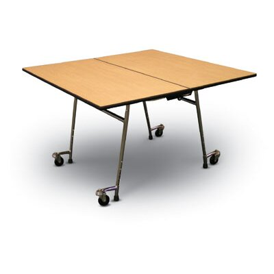 Midwest Folding Products 29&quot; x 60&quot; x 60&quot; Square Mobile Table Unit