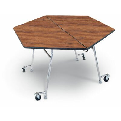 "Midwest Folding Products 27"" x 48"" Hexagon Mobile Table Unit"