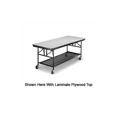 Midwest Folding Products Mobile Utility Table with Plywood Top