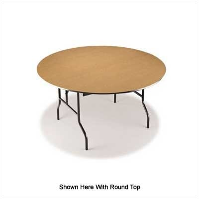 "Midwest Folding Products 24"" x 60"" Plywood Core Seminar Table"