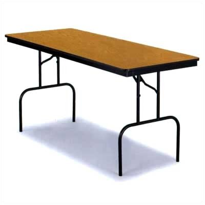 "Midwest Folding Products 30"" x 96"" Particleboard Core 36"" High Table"