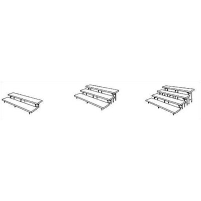 Midwest Folding Products Two-Level Straight Riser with Polypropylene Deck