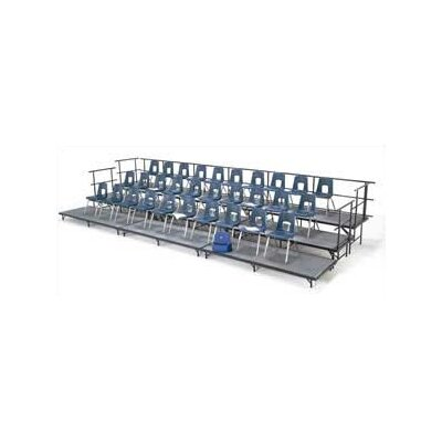 Midwest Folding Products Choral Riser Straight Section with Hardboard Deck