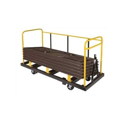 Midwest Folding Products Upperzone Rectangular Table Truck
