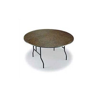 Midwest Folding Products Round Banquet Table with Plywood Top