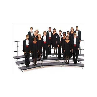 "Midwest Folding Products 3-Level 48"" Transfold Choral Riser with Optional 4th Step Add-on"