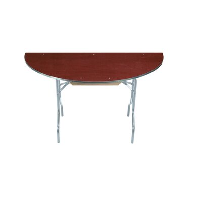Midwest Folding Products EV Series Half Round Folding Table with Vinyl Edge