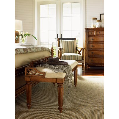 Tommy Bahama Home Island Estate Plantain Wood Bedroom Bench